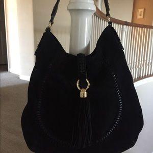 Ralph Lauren suede black hobo bag
